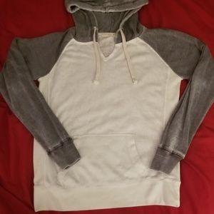 Womens Ocean Drive Size M Hoodie Sweatshirt Gray
